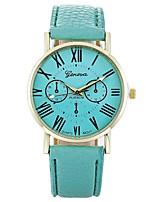 abordables -Mujer Reloj Casual Reloj de Moda Reloj de Pulsera Chino Cuarzo Reloj Casual PU Banda Casual Minimalista Negro Blanco Azul Rojo Marrón