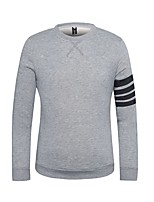 cheap -Men's Daily Sweatshirt Solid Round Neck Micro-elastic Cotton Long Sleeve Spring Fall
