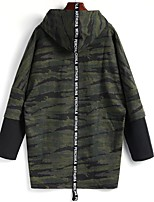 cheap -Men's Plus Size Daily Casual Hoodie Camouflage Hooded Hoodies Without Lining Micro-elastic Cotton Polyester Long Sleeve Spring/Fall