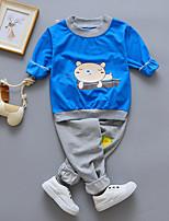 cheap -Boys' Sports Print Clothing Set,Cotton Spring Long Sleeve Casual Blue
