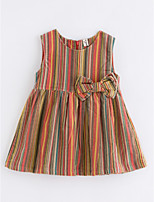cheap -Girl's Striped Dress Spring Active Rainbow