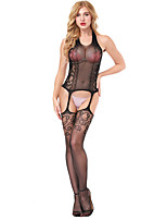 cheap -Women's Suits Nightwear,Halter Jacquard-Thin Nylon Spandex Red Black