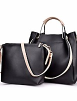 cheap -Women Bags PU Bag Set 2 Pieces Purse Set Zipper for Outdoor Winter Wine Brown Gray Black