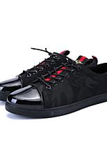 Недорогие -Для мужчин обувь Ткань Весна Лето Удобная обувь Кеды для Повседневные Черный