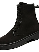 cheap -Women's Shoes Rubber Winter Fall Combat Boots Boots Flat Heel for Outdoor Black Fuchsia