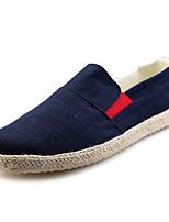 Недорогие -Муж. обувь Резина Весна Осень Удобная обувь Мокасины и Свитер для Черный Синий