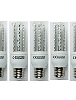 cheap -5pcs 9W E27 LED Corn Lights T30 48 leds SMD 3528 Cold White 720lm 6400K AC 110-240V