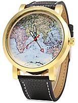 Недорогие -Муж. Наручные часы Китайский Кварцевый Крупный циферблат Нержавеющая сталь Группа Cool Черный Красный Оранжевый