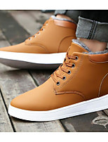 cheap -Men's Shoes Leatherette Spring Fall Comfort Boots Booties/Ankle Boots for Casual Blue Brown Black