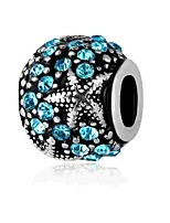 cheap -DIY Jewelry 1 pcs Beads Imitation Diamond Alloy White Blue Round Bead 0.2 cm DIY Necklace Bracelet