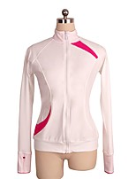 cheap -Figure Skating Top Women's Girls' Ice Skating Top Pink Spandex Stretchy Performance Practise Skating Wear Solid Long Sleeves Ice Skating