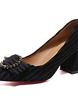 preiswerte -Damen Schuhe PU Frühling Sommer Komfort High Heels Block Ferse für Normal Schwarz Grau Braun
