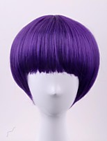 cheap -Synthetic Wig Straight Capless Women's Purple Natural Wigs Short