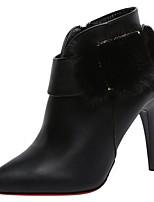 Недорогие -Для женщин Обувь Полиуретан Осень Удобная обувь Туфли лодочки Ботильоны Ботинки На шпильке Заостренный носок Ботинки для Для праздника
