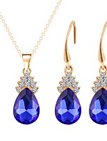 cheap -Women's Jewelry Set Pendant Necklace Gold Plated Elegant Fashion Daily Evening Party 1 Necklace Earrings Costume Jewelry