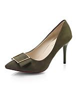 preiswerte -Damen Schuhe PU Frühling Herbst Komfort High Heels Stöckelabsatz für Schwarz Grün Rosa