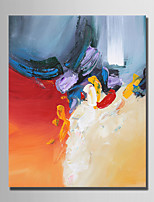 cheap -Hand-Painted Abstract Vertical,Simple Modern Canvas Oil Painting Home Decoration One Panel