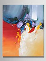 economico -Dipinta a mano Astratto Verticale, Semplice Modern Tela Hang-Dipinto ad olio Decorazioni per la casa Un Pannello