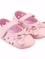 cheap -Girls' Shoes Leatherette Spring Fall First Walkers Comfort Flats for Casual Gold White Black Silver Pink