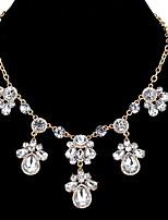 abordables -Mujer Forma Geométrica Gota Europeo Moda Elegant Collares de cadena Collares Declaración Acrílico Acrílico Legierung Collares de cadena