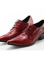 cheap -Men's Shoes Real Leather Spring Fall Formal Shoes Novelty Oxfords Buckle for Wedding Party & Evening Wine