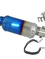 Недорогие -половина синий модифицировано нержавеющая сталь мотоцикл глушитель выхлопная труба db killer глушитель