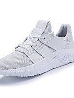 cheap -Men's Shoes Tulle Spring Fall Comfort Sneakers for Casual White Black Black/White