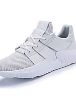 Недорогие -Муж. обувь Тюль Весна Осень Удобная обувь Кеды для Повседневные Белый Черный Черно-белый