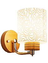 cheap -Eye Protection Wall Lamps & Sconces For Bedroom Wood/Bamboo Wall Light 220V 9W