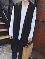 cheap -Women's Casual/Daily Street chic Shirt,Color Block Round Neck Long Sleeves Eco-friendly Polyester