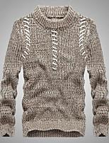 preiswerte -Herrn Gestreift Alltag Freizeit Pullover Pullover Langärmelige Rundhalsausschnitt Frühling Herbst