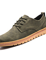 cheap -Men's Shoes PU Spring Fall Comfort Oxfords for Outdoor Black Gray Green