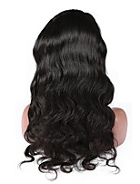 cheap -Human Hair Lace Front Wig Malaysian Hair Body Wave Wig With Baby Hair 120% Natural Hairline Women's Short / Medium Length / Long Human Hair Lace Wig