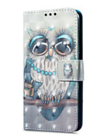 cheap -Case For Huawei P9 lite mini Card Holder Wallet with Stand Flip Magnetic Pattern Full Body Owl Hard PU Leather for P9 lite mini
