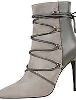 cheap -Women's Shoes Synthetic Winter Fall Gladiator Fashion Boots Combat Boots Boots Stiletto Heel Pointed Toe Booties/Ankle Boots Mid-Calf