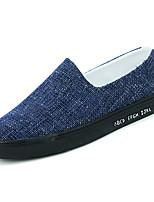 baratos -Homens sapatos Borracha Primavera Outono Conforto Mocassins e Slip-Ons para Casual Preto Azul Khaki