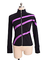 cheap -Figure Skating Top Women's Girls' Ice Skating Top Violet Spandex Stretchy Performance Practise Skating Wear Solid Long Sleeves Ice