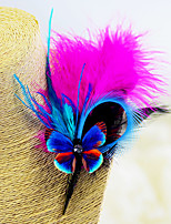 "cheap -Wedding Flowers Boutonnieres Headdress Brooches & Pins Wedding Event/Party Goose Feather Feathers 1 Inch 6.3""(Approx.16cm)"