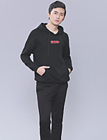 cheap -Men's Plus Size Going out Casual Sweatshirt Solid Round Neck Hoodies Micro-elastic Cotton Polyester Long Sleeve Winter Fall