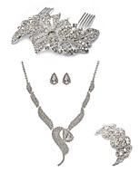 Недорогие -Жен. Гребни Свадебные комплекты ювелирных изделий Стразы европейский Мода Свадьба Для вечеринок Искусственный бриллиант Сплав