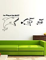 abordables -Animaux Moderne Stickers muraux Autocollants avion Autocollants muraux décoratifs,Vinyle Décoration d'intérieur Calque Mural Mur Fenêtre