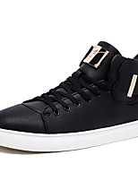 cheap -Men's Shoes PU Spring Fall Comfort Sneakers for Outdoor White Black