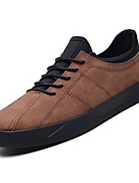 cheap -Men's Shoes PU Fall Comfort Sneakers for Casual Brown Gray Black
