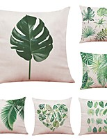 cheap -6 pcs Linen Cotton/Linen Pillow Cover,Floral Botanical Art Deco