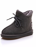 cheap -Boys' Shoes Cowhide Winter Fall Combat Boots Comfort Boots Booties/Ankle Boots for Casual Black Beige Gray Army Green Dark Brown