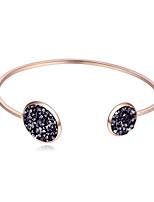 abordables -Femme Manchettes Bracelets Strass Européen Mode Alliage Forme de Cercle Bijoux Casual Quotidien
