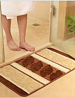 cheap -Modern Bath Mats Polyester/Viscose Pattern Rectangle