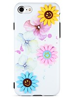 cheap -Case For Apple iPhone 7 iPhone 6 Pattern DIY Back Cover Flower 3D Cartoon Soft TPU for iPhone 7 Plus iPhone 7 iPhone 6s Plus iPhone 6
