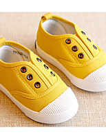 cheap -Girls' Shoes Canvas Spring Fall Comfort First Walkers Sneakers for Casual Light Green Red Yellow Gray Dark Blue