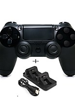 cheap -Wireless Bluetooth Game Controller Gamepad Controller Joystick Gamepads with Dual charger for PS4